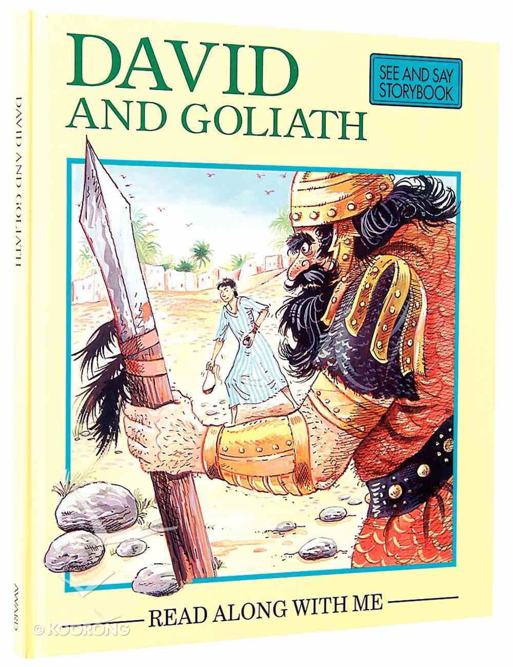 David and Goliath (Read Along With Me Bible Stories Series) Hardback