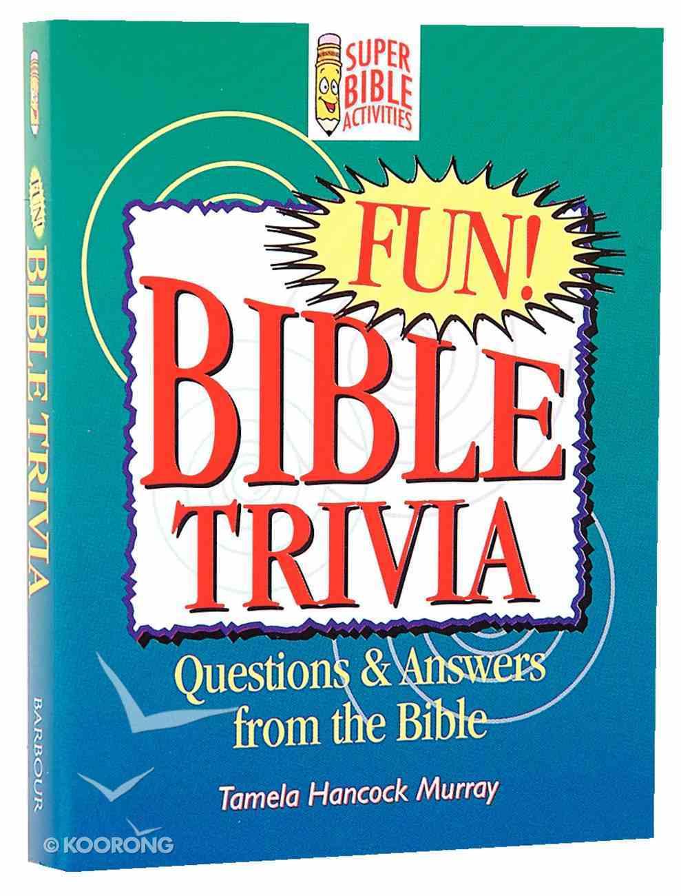 Bible Trivia (Super Bible Activities Series) Paperback