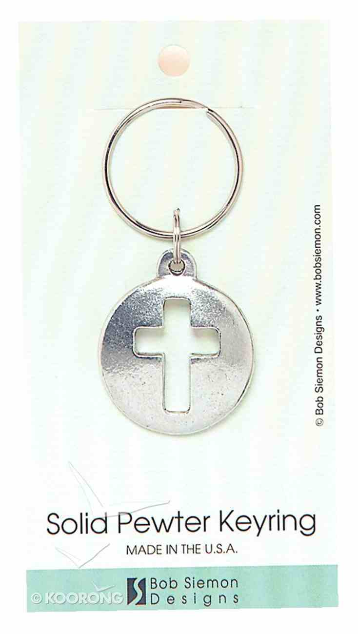 Keyring: Cut-Out Cross (Lead-free Pewter) Jewellery