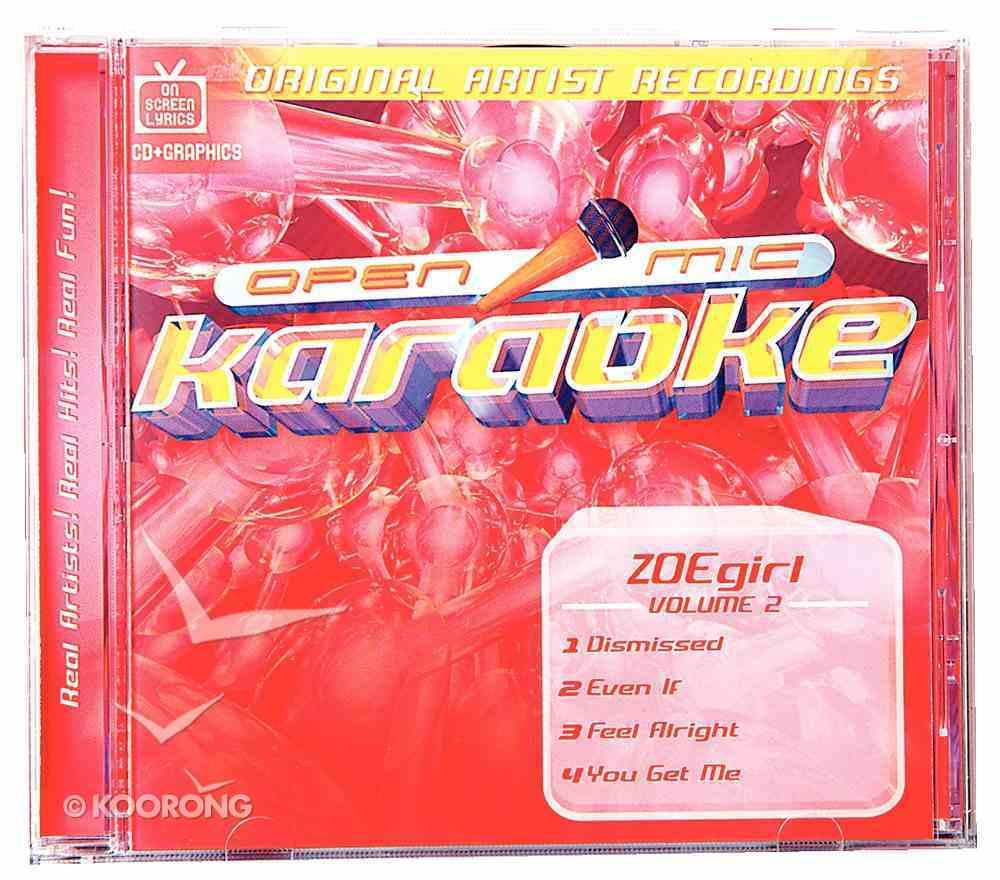 Karaoke Zoe Girl (Accompaniment) (Vol 2) CD