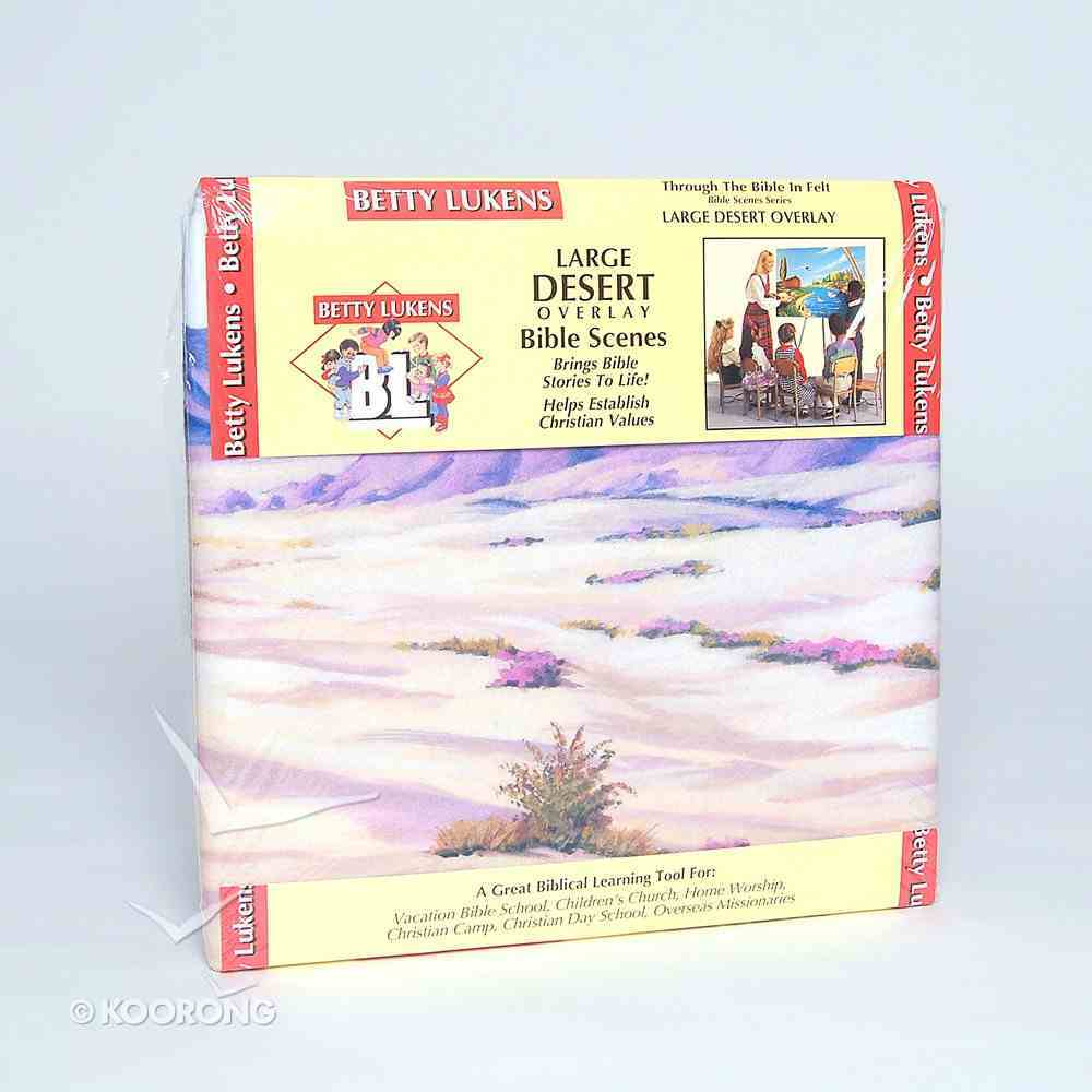 "Lukens Large Desert Overlay (Used On 32"" X 48"" Background) Flannelgraph"