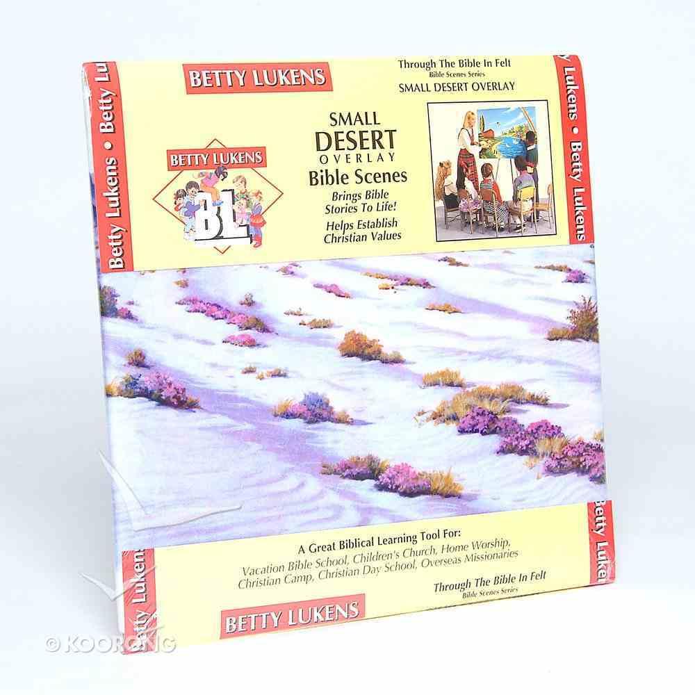 "Lukens Small Desert Overlay (Used On 16"" X 24"" Background) Flannelgraph"
