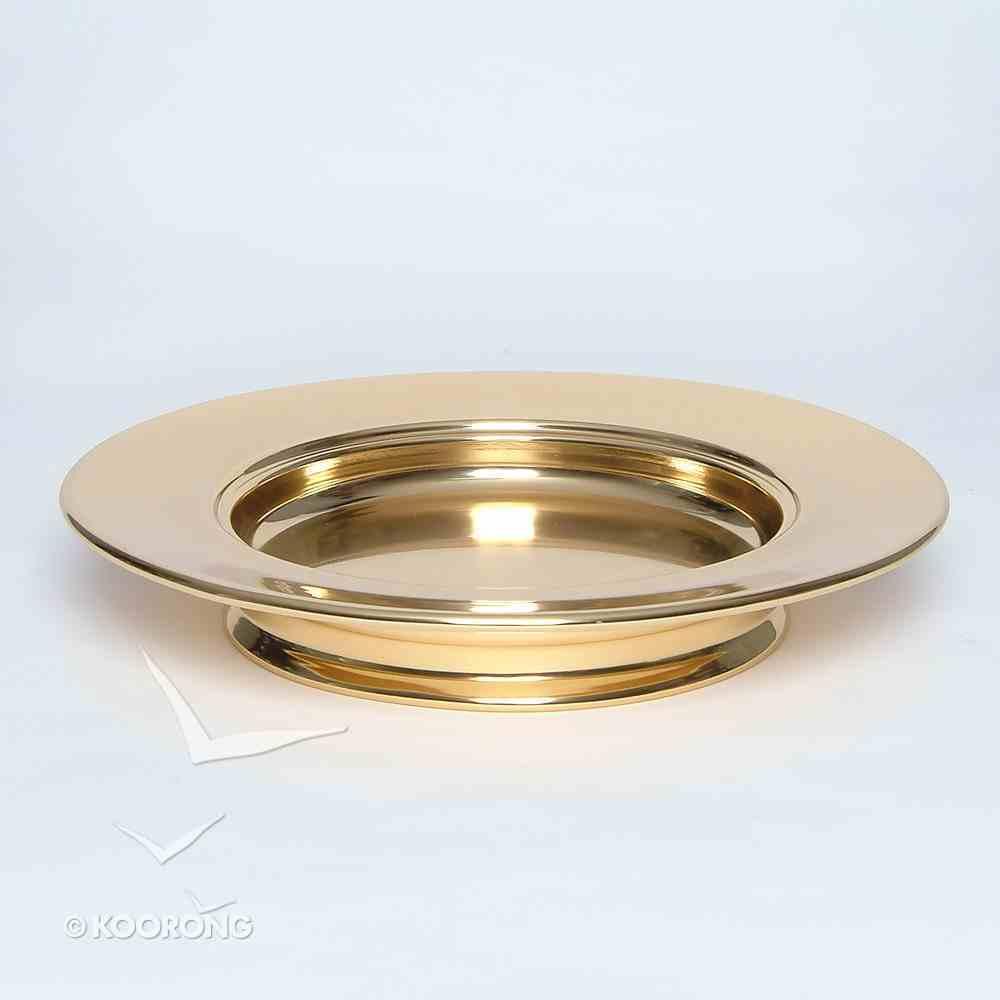 "Bread Plate: Stacking Brasstone (Rw-504ab) (10"") Church Supplies"