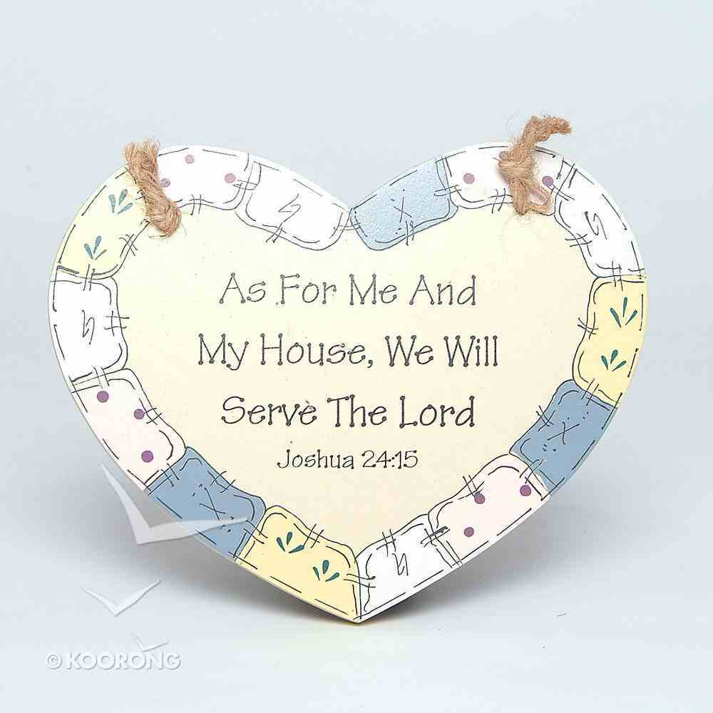 Wood Handicraft: As For Me and My House Plaque