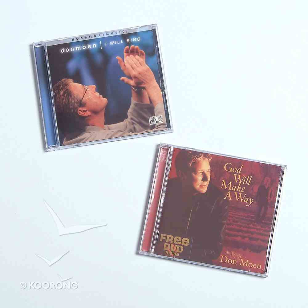 Don Moen 2 CD Pack With Free DVD CD