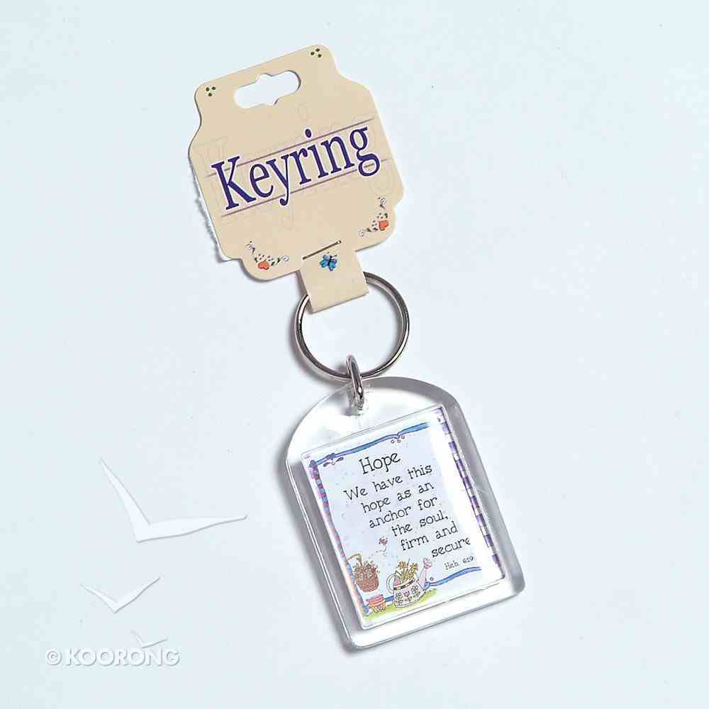 Plastic Keyring: Hope is An Anchor Novelty