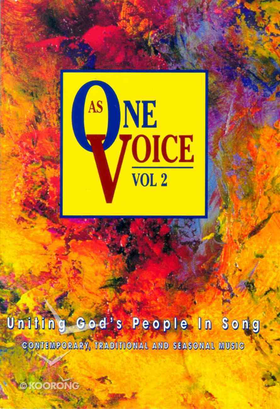 As One Voice Volume 2 People's Edition (Music Book) Paperback