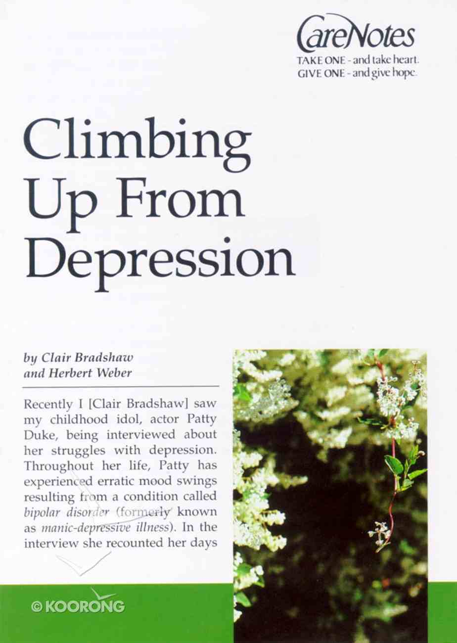 Care Notes: Climbing Up From Depression Paperback