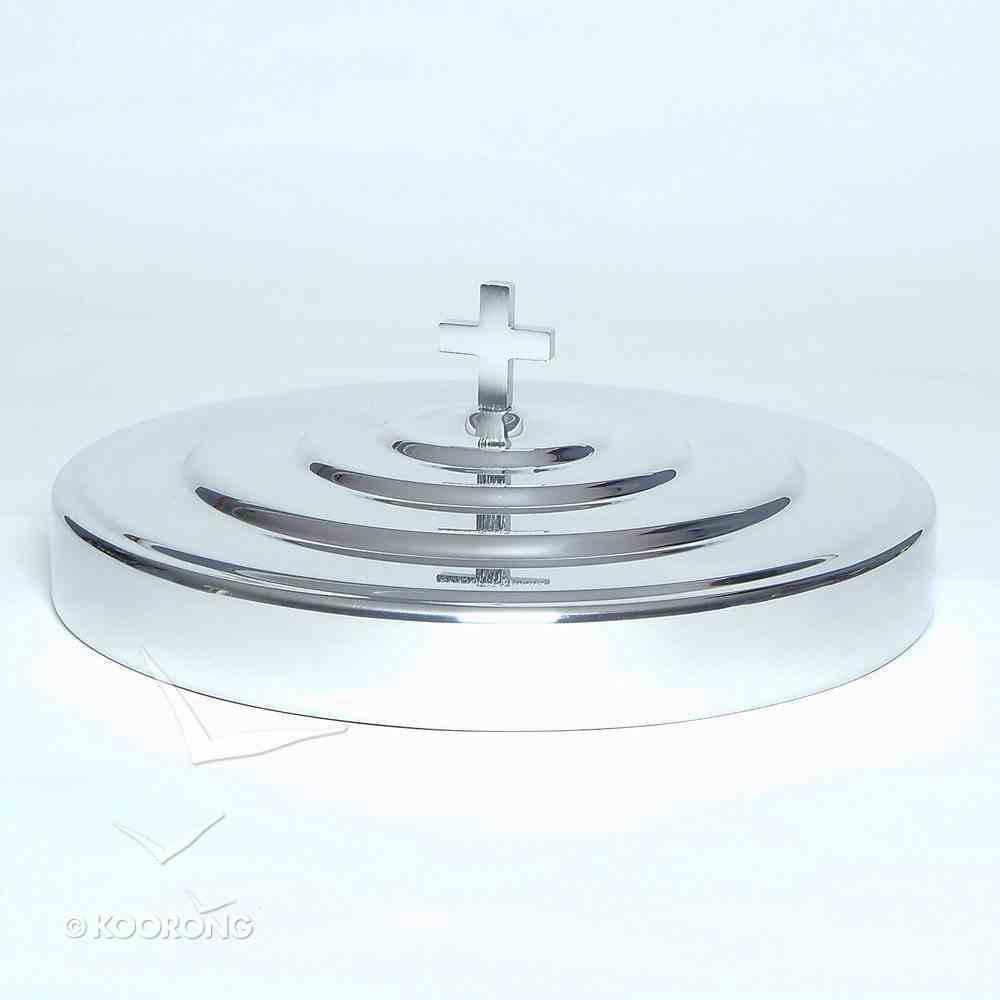 "Communion Tray Cover: Plain Polished Aluminium (Rw-501pp) (11"") Church Supplies"
