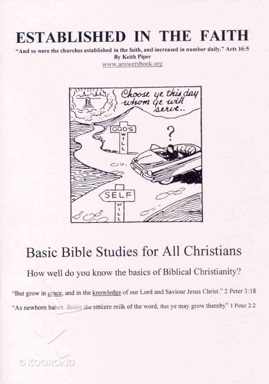 Established in the Faith: Basic Bible Studies For All Christians Paperback