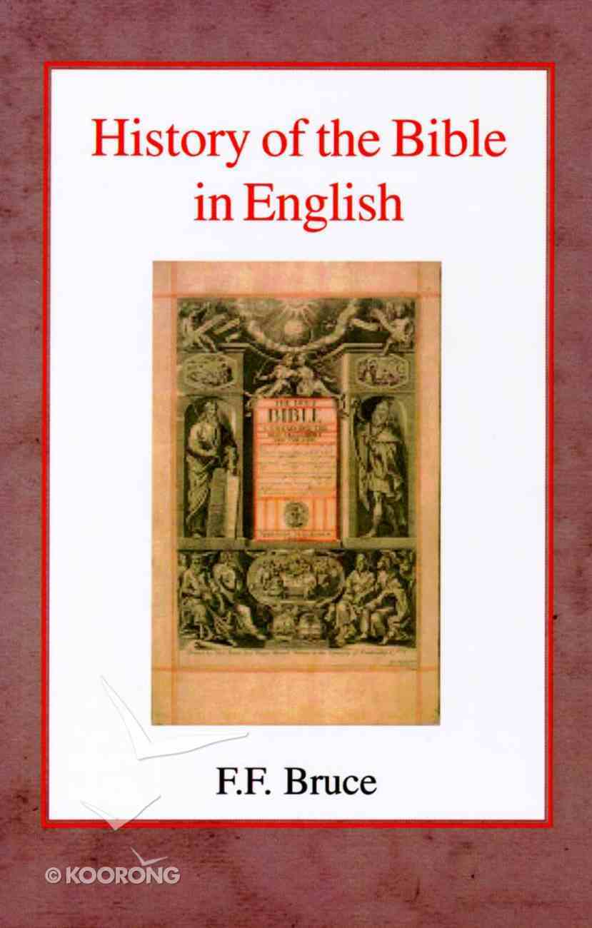 History of the Bible in English Paperback