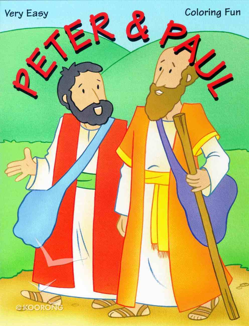 Very Easy Coloring: Peter & Paul Paperback