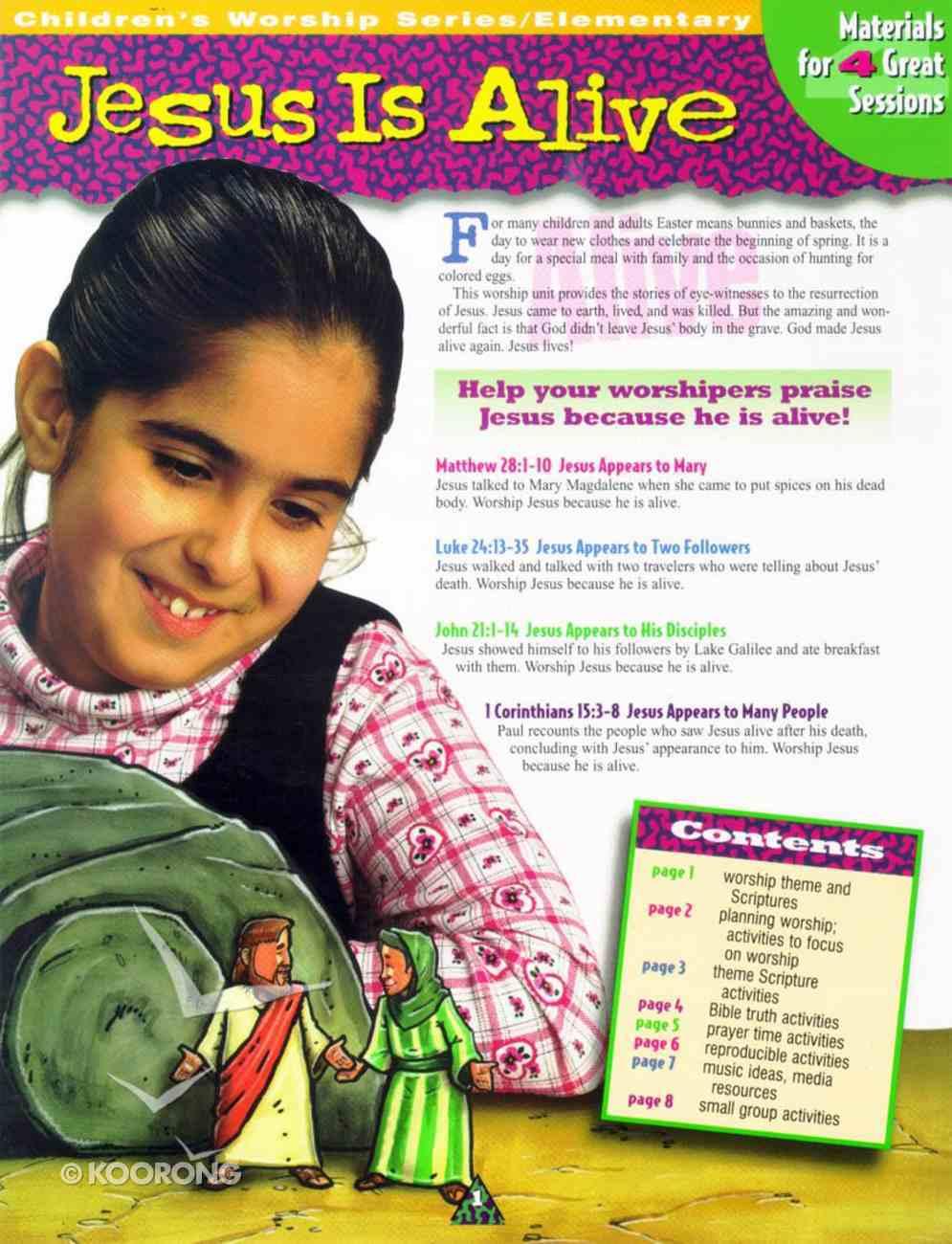 Children's Worship Folder: Jesus is Alive Paperback