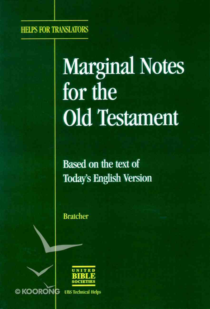 Marginal Notes For the Old Testament Paperback