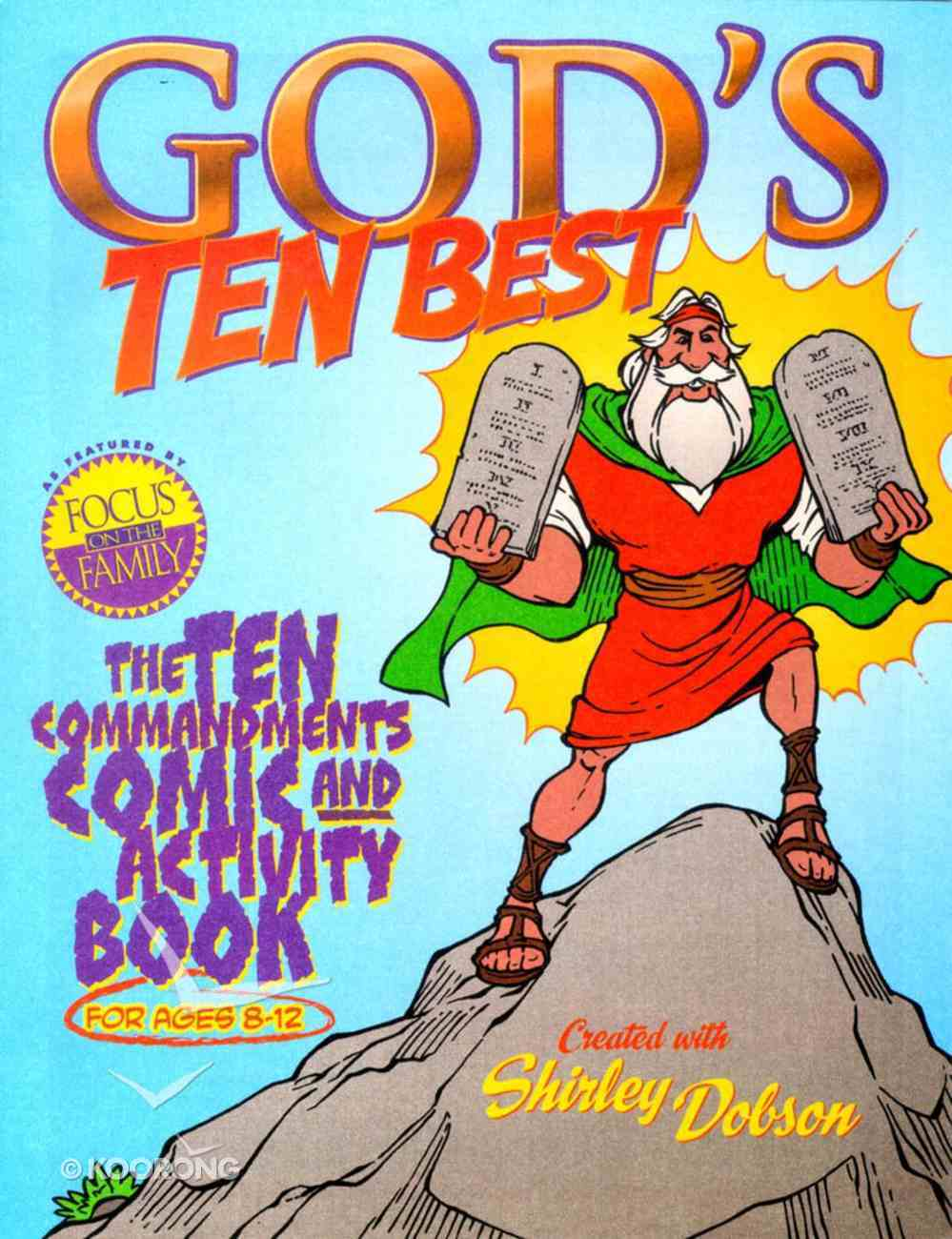 Ten Commandments Comic & Activity Book (God's Ten Best Series) Paperback