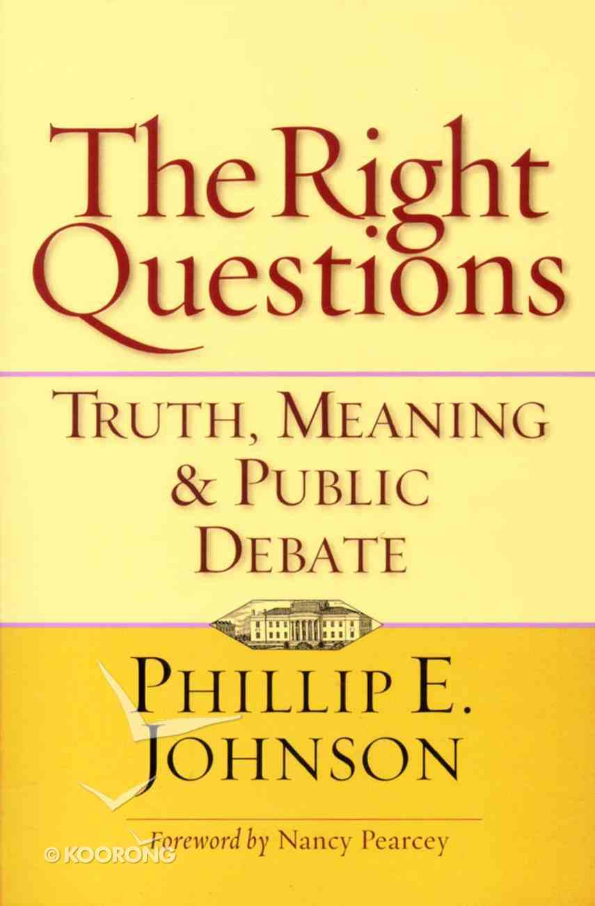 The Right Questions Paperback