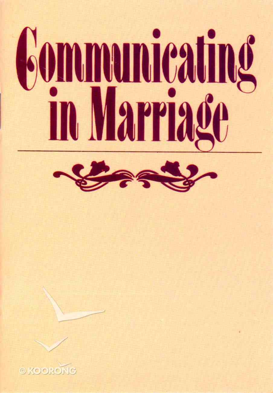 Communicating in Marriage Booklet