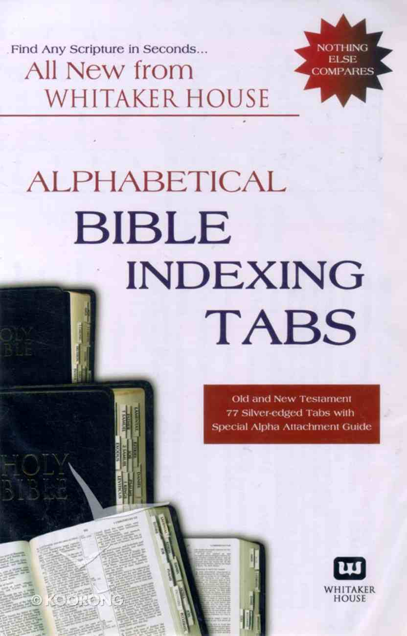 Alphabetical Indexing Tabs Stationery
