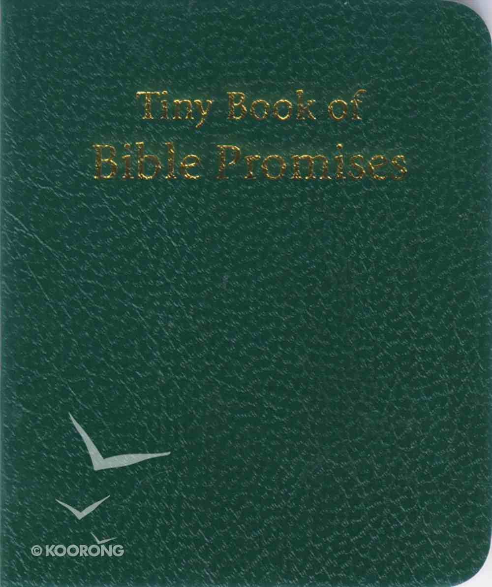 Novelty: Tiny Book of Bible Promises Green Novelty