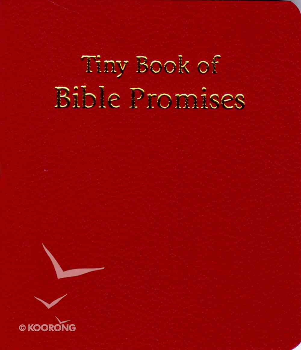 Novelty: Tiny Book of Bible Promises Red Novelty
