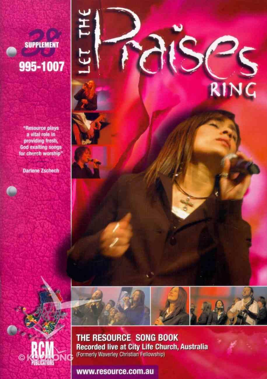 Rcm Volume G: Supplement 38 Let Praises Ring (Music Book) (995-1007) Paperback