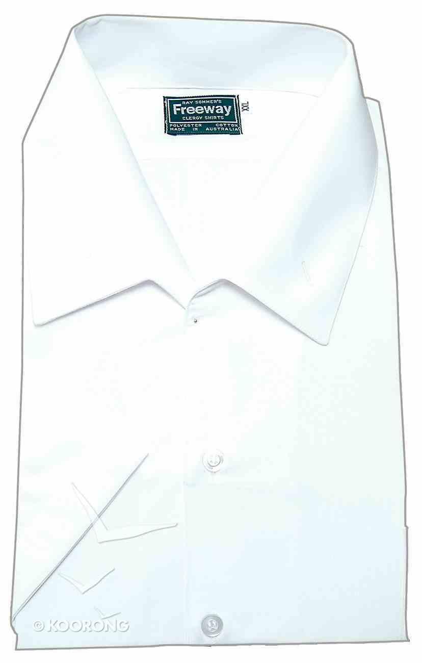 Milano Freeway Clergy Shirt Mens White Xxl Short Sleeve Soft Goods