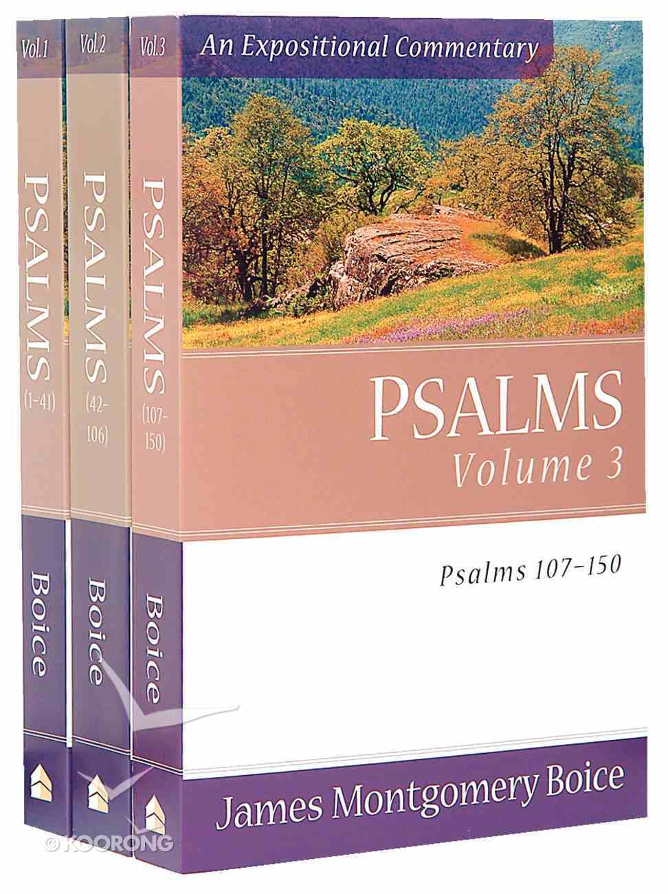 Psalms 3-Pack (3 Vols) (Expositional Commentary Series) Pack