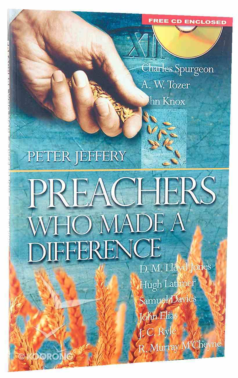 Preachers Who Made a Difference With CD (Audio) Paperback