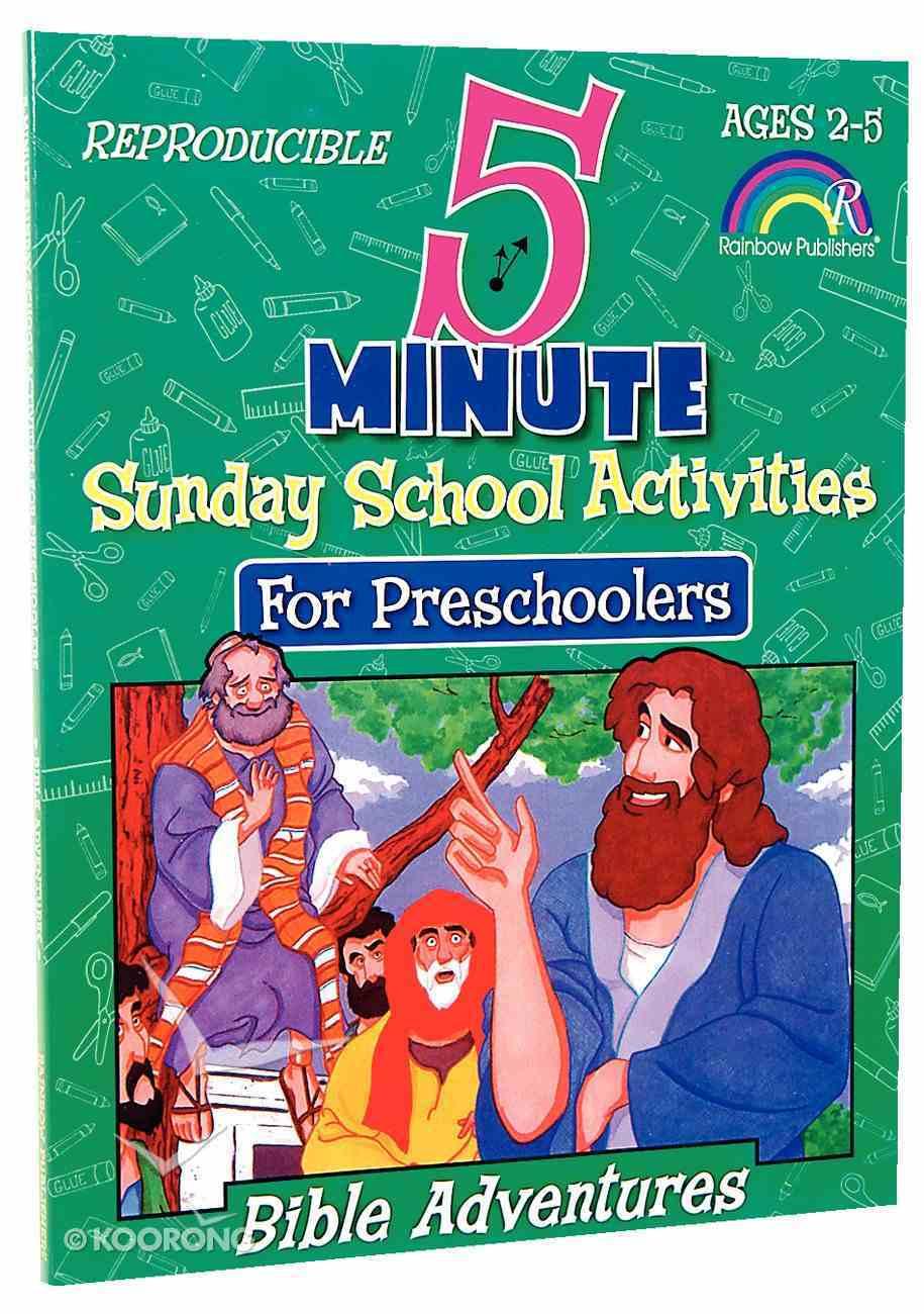 Bible Adventures (5 Minute Sunday School Activities Series) Paperback