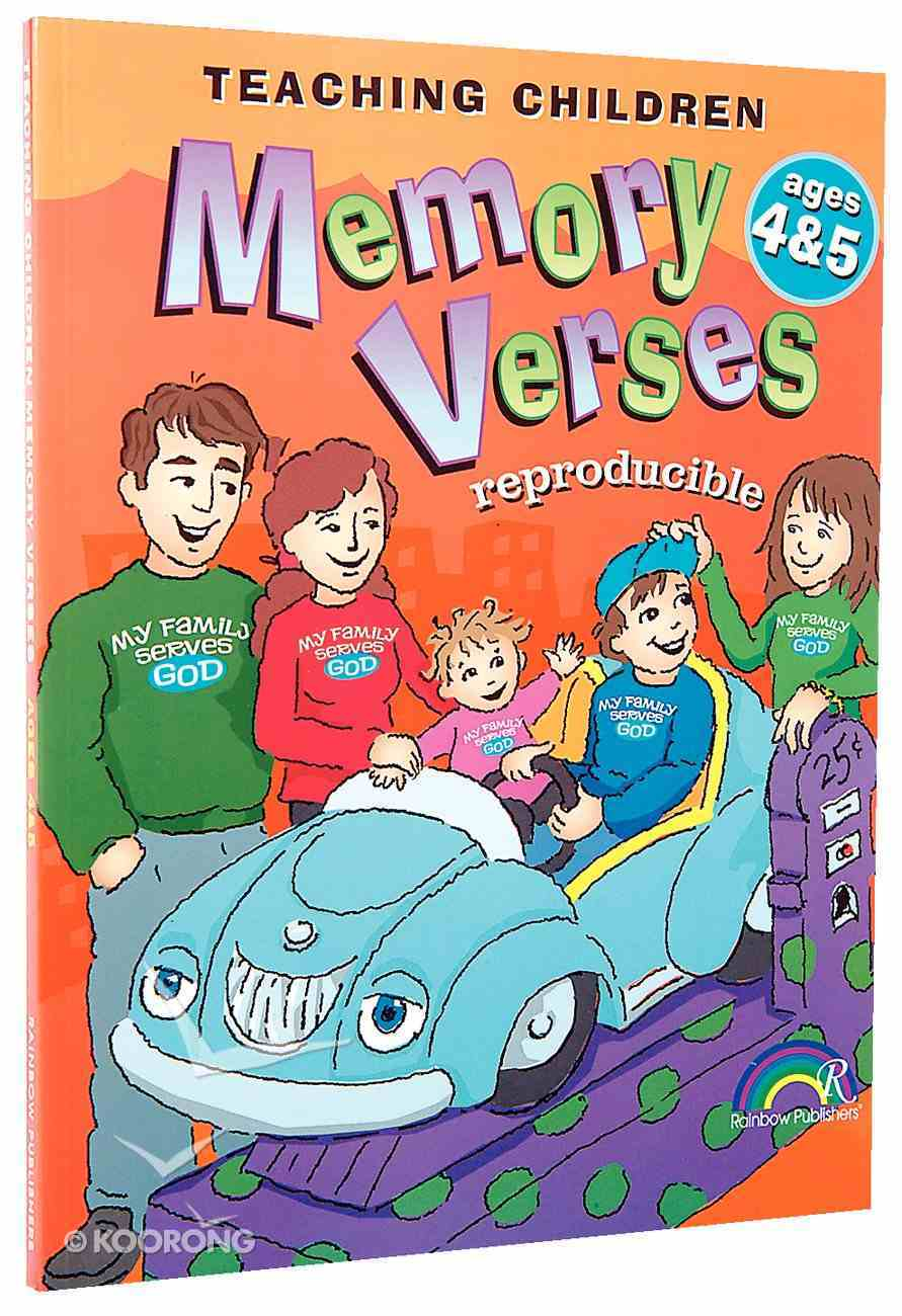 Teaching Children Memory Verses Ages 4&5 Paperback