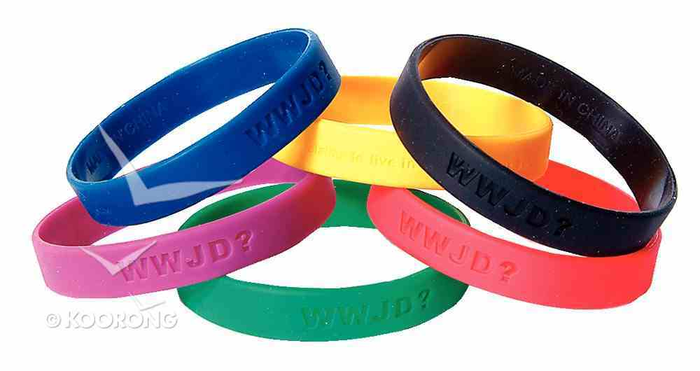 Silicon Wwjd Wristband: 6 Assorted Colours Available Novelty