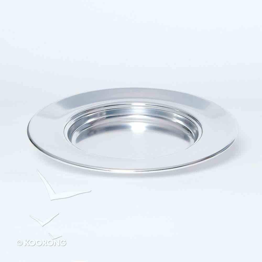 "Bread Plate: Non-Stacking Silvertone (Rw-505a) (10"") Church Supplies"