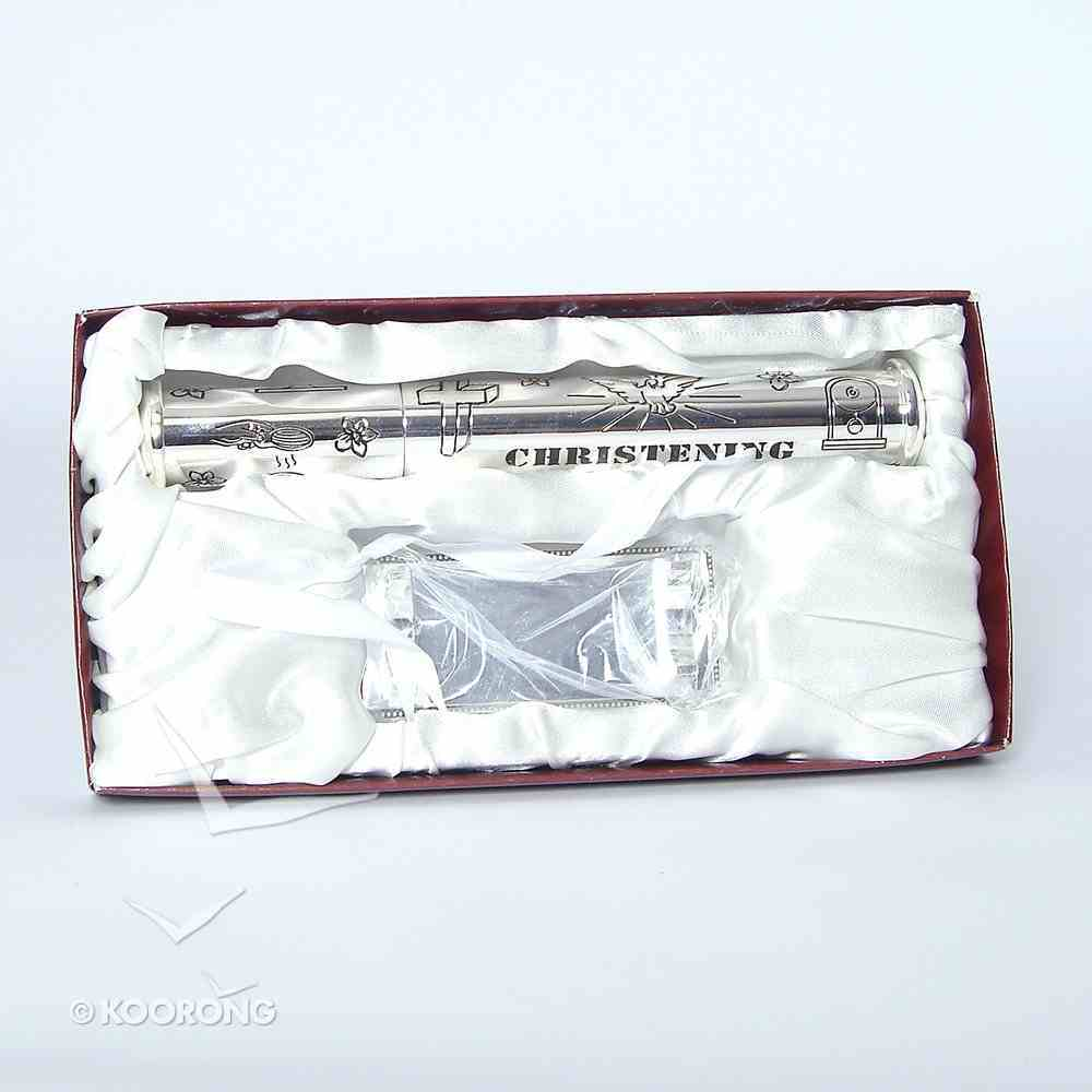 Silver Christening Certificate Holder Homeware