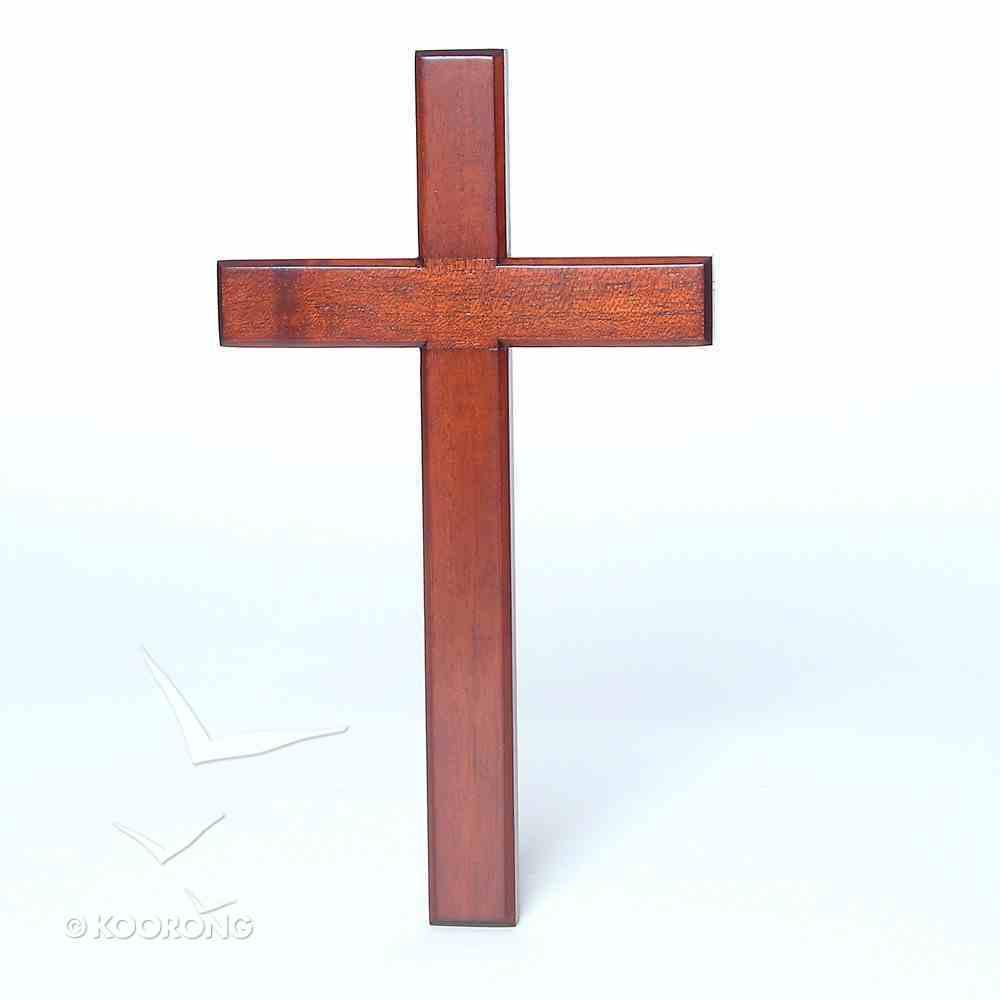 Cross: 25Cm, Bevelled Edge, Hanging (Mahogany) Plaque