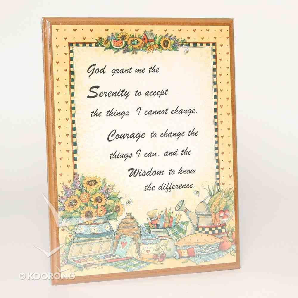 Country Plaque: Serenity Prayer Plaque