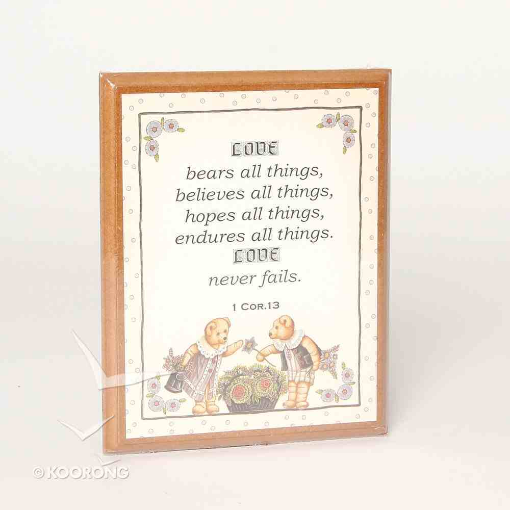 Country Plaque: Sunflowers, Love Bears All Things Plaque