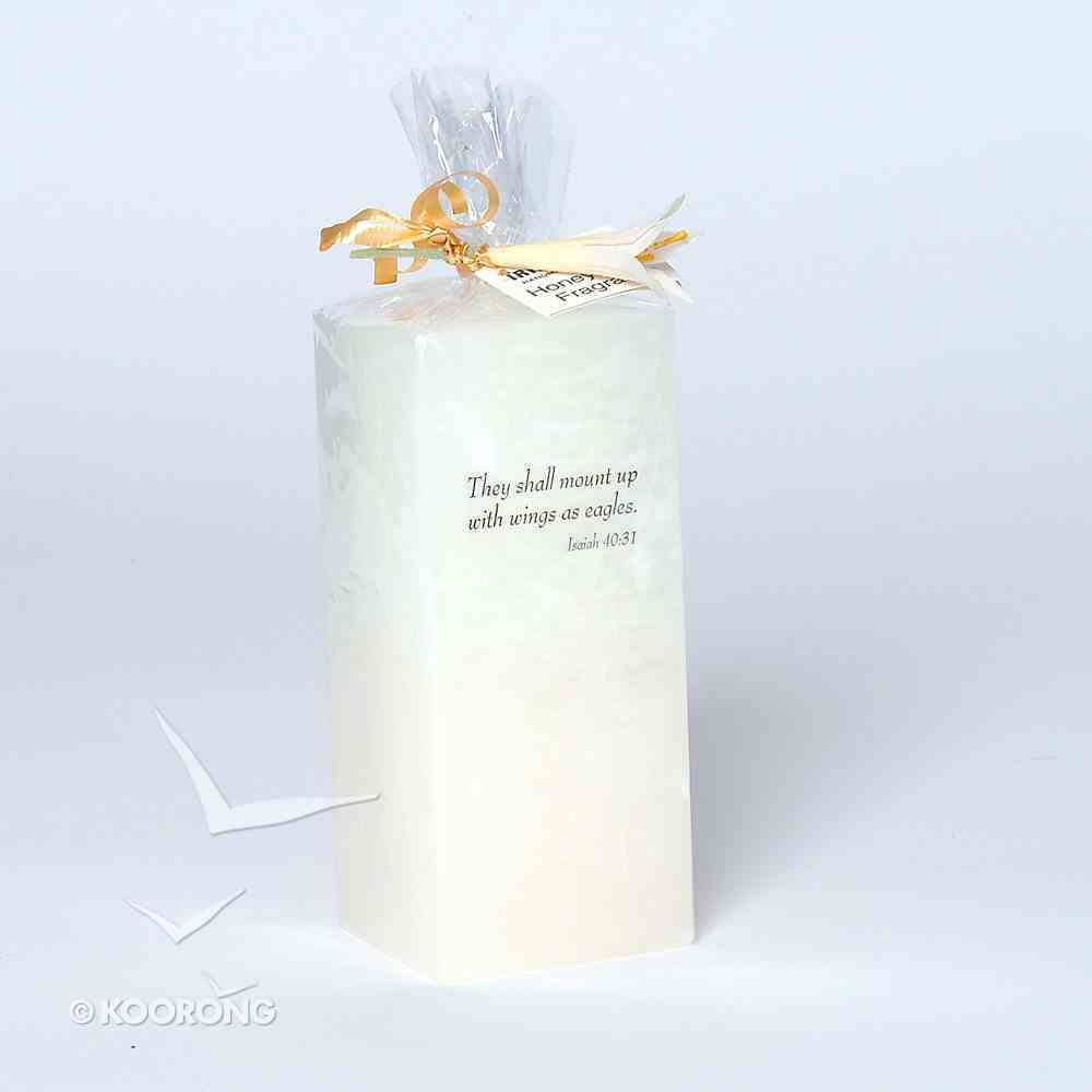 Candle: Layered Honeysuckle 6cm Square 12.5cm High Homeware