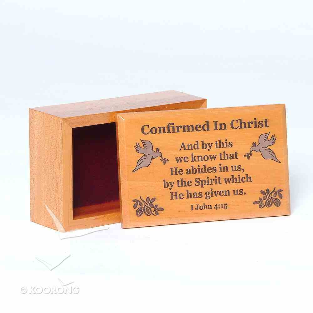 Wooden Box: Confirmed in Christ and By This We Know That Homeware