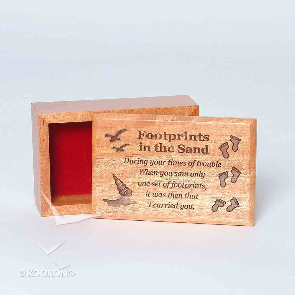 Wooden Box: Footprints in the Sand Homeware