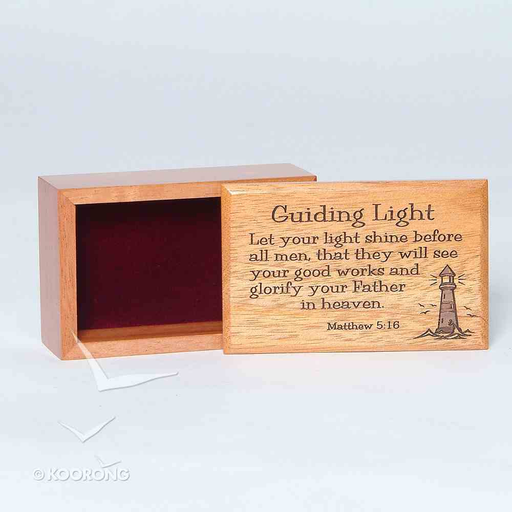 Wooden Box: Guiding Light Let Your Light Shine Before Men Homeware