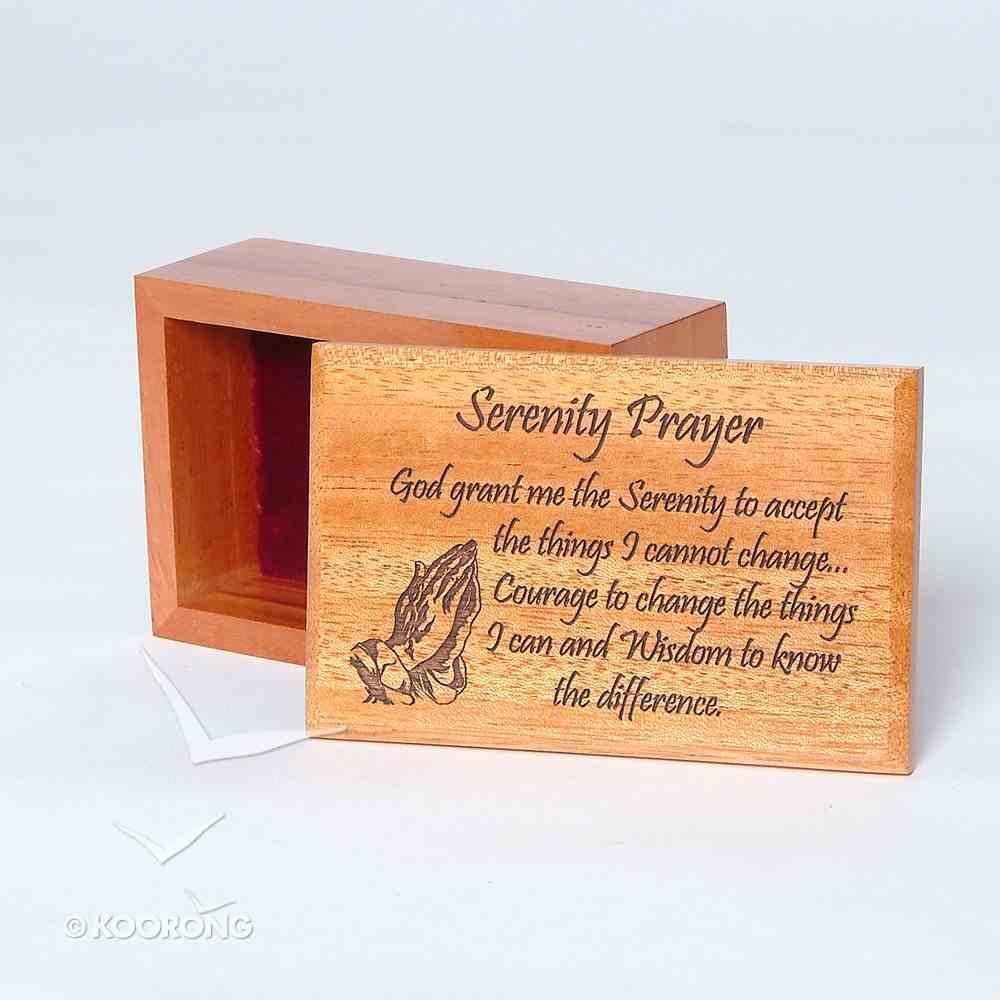Wooden Box: Serenity Prayer Homeware