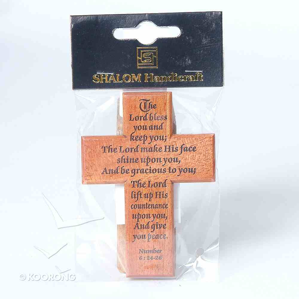 Small Wood Cross: The Lord Bless You and Keep You Plaque