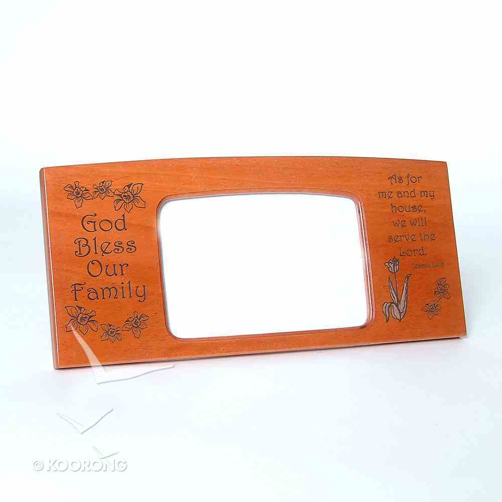 Wood Photoframe: God Bless Our Family Homeware