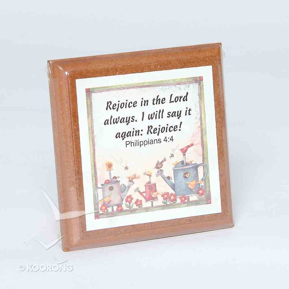 Extra Small Plaque: Rejoice in the Lord Homeware