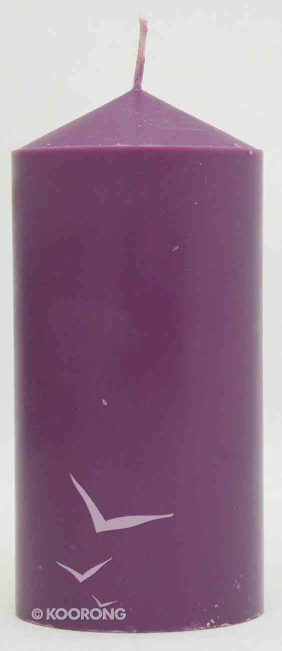 Candles: Powerlite Hand Moulded Round Pillar 150mm/64Mm Purple Homeware