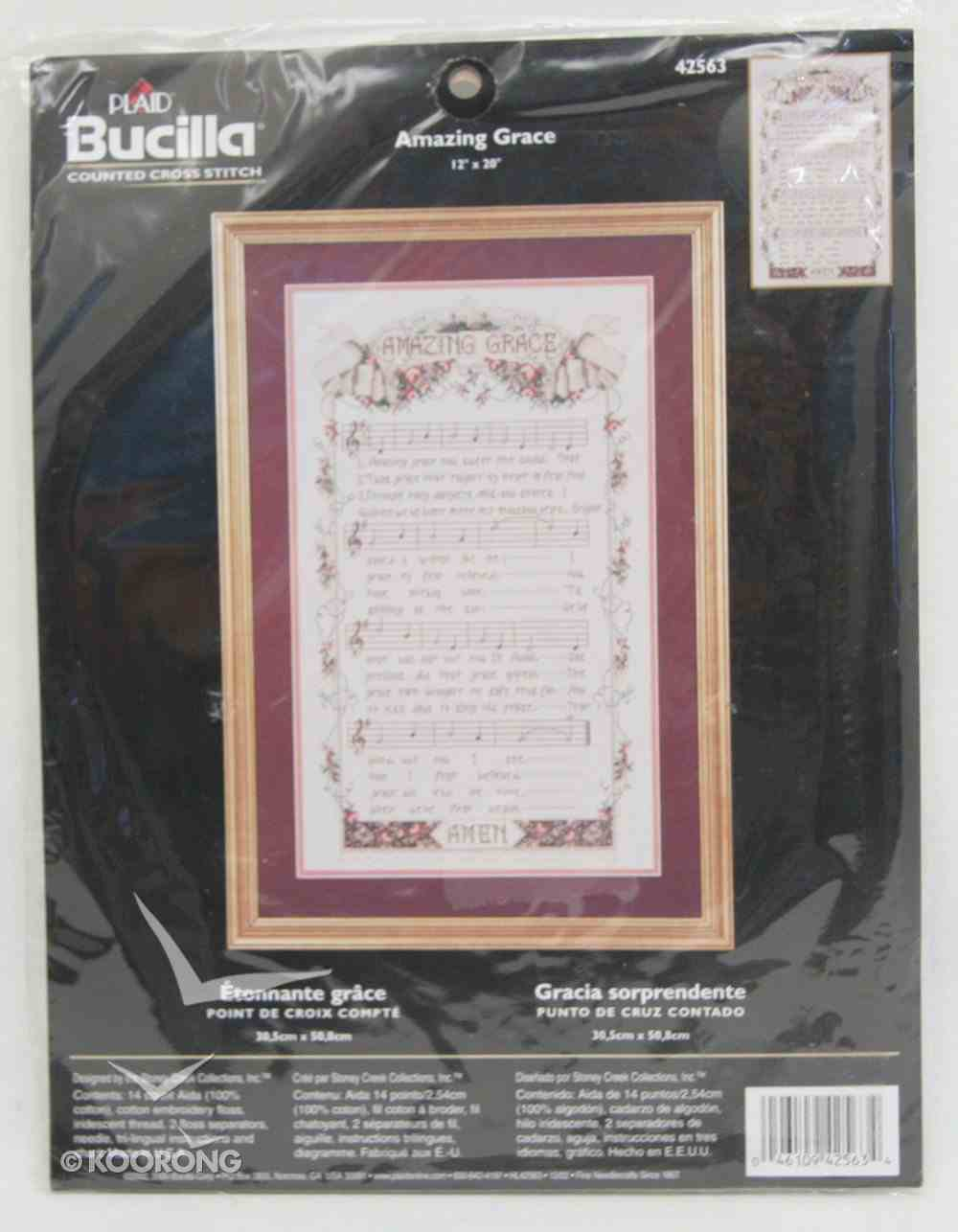 Cross Stitch: Amazing Grace 30Cm X 50Cm Soft Goods