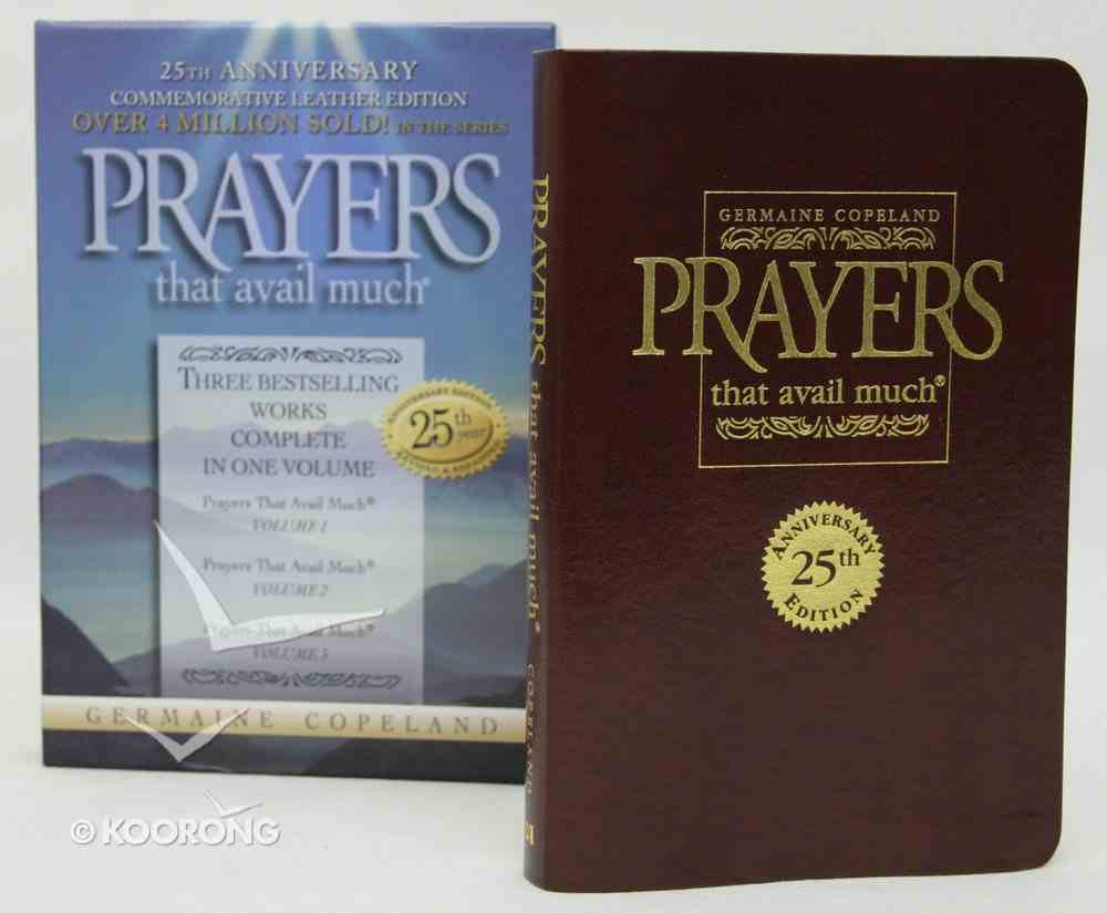 Prayers That Avail Much (25Th Anniversary Leather Gift Edition-Burgundy) (Prayers That Avail Much Series) Genuine Leather