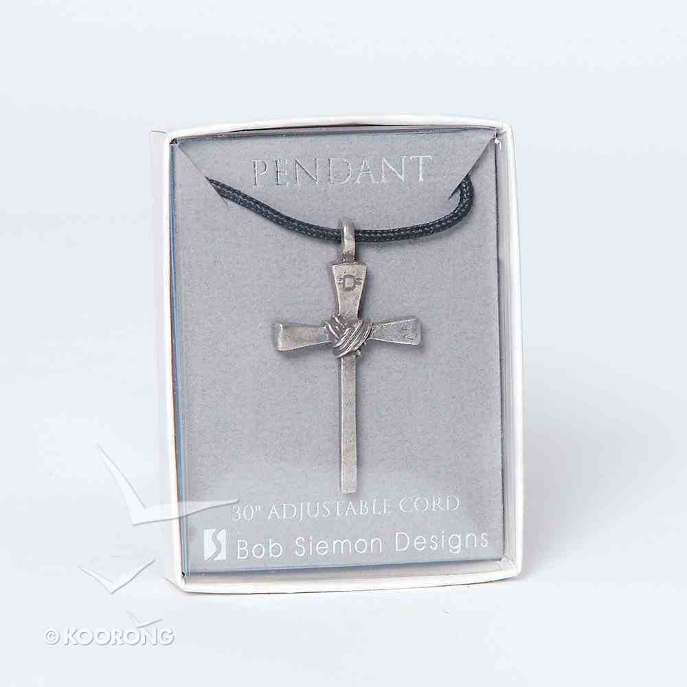 Pendant: Cross Nail Small (Pewter) Jewellery