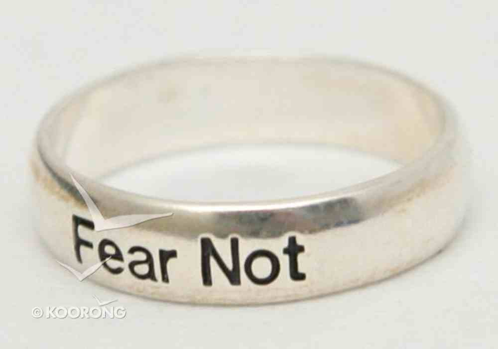 Ring: Fear Not Size 8 (Sterling Silver) Jewellery