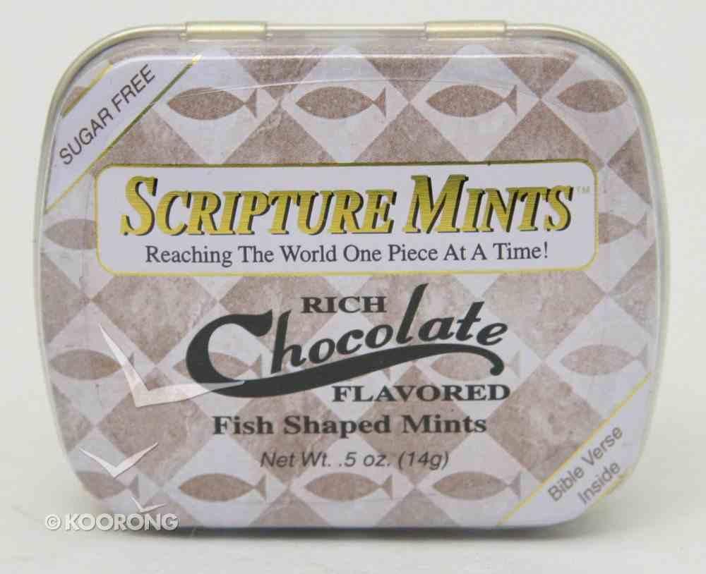 Scripture Fish Mints Pocket Tin: Rich Chocolate Sugar Free General Gift